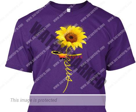 Jesus Sunflower shirt