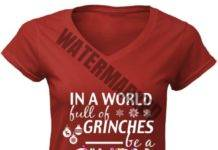 In a world full of grinches be a cindy lou who women v-neck shirt