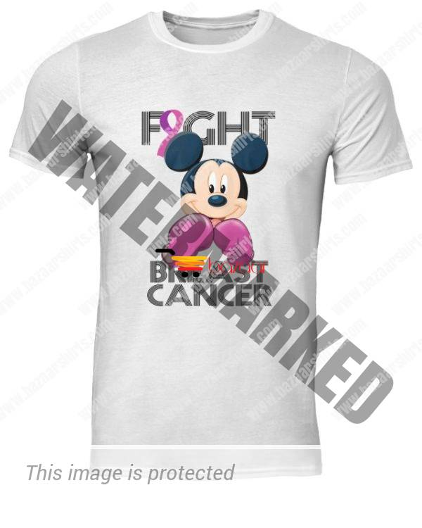 Mickey Mouse Fight Breast Cancer Awareness classic men shirt