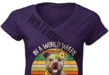Pitbull sunflower hippie in a world where you can be anything be kind women v-neck shirt