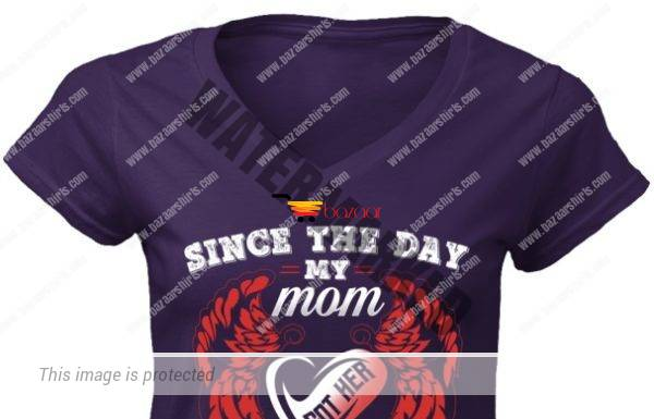 Since the day my mom got her wings i have never been the same women v-neck shirt