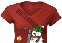 Snowman with a Miller 2 Anesthesia Christmas women v-neck shirt
