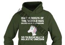 Unicorn only 0.0002 of the world has ehlers danlos syndrome hoodie