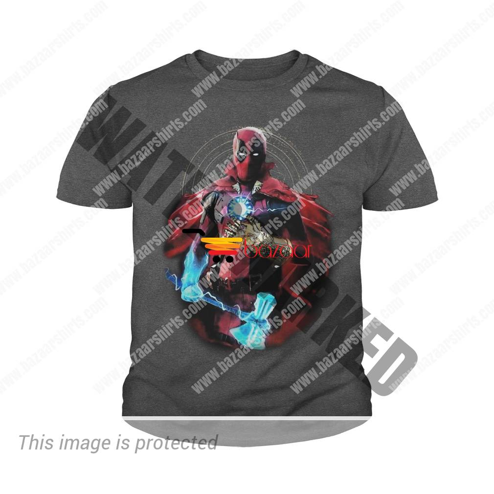Deadpool Thor Stormbreaker Thanos Infinity Gauntlet Doctor Strange youth tee