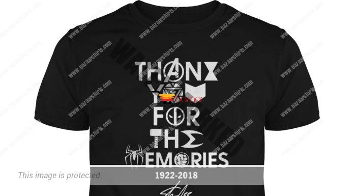 Stan Lee thank you for the memories 1922-2018 Marvel Icons unisex shirt