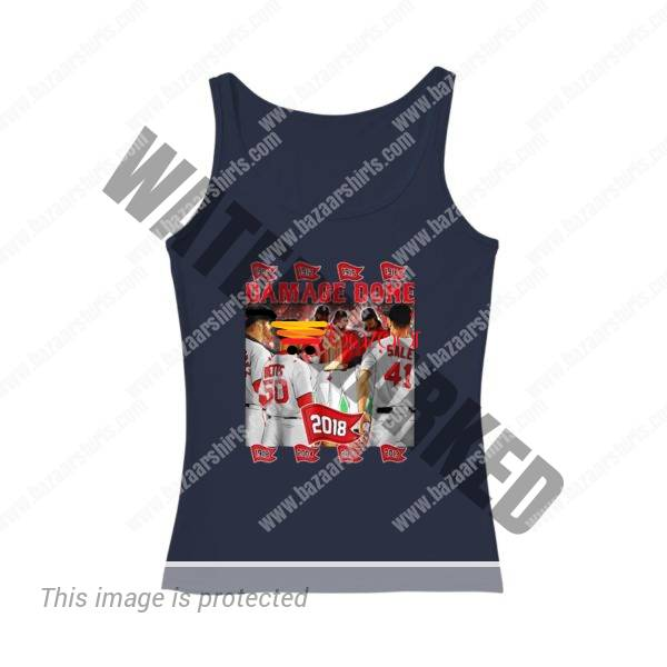 Boston Red Sox Damage Done 2018 women tank top