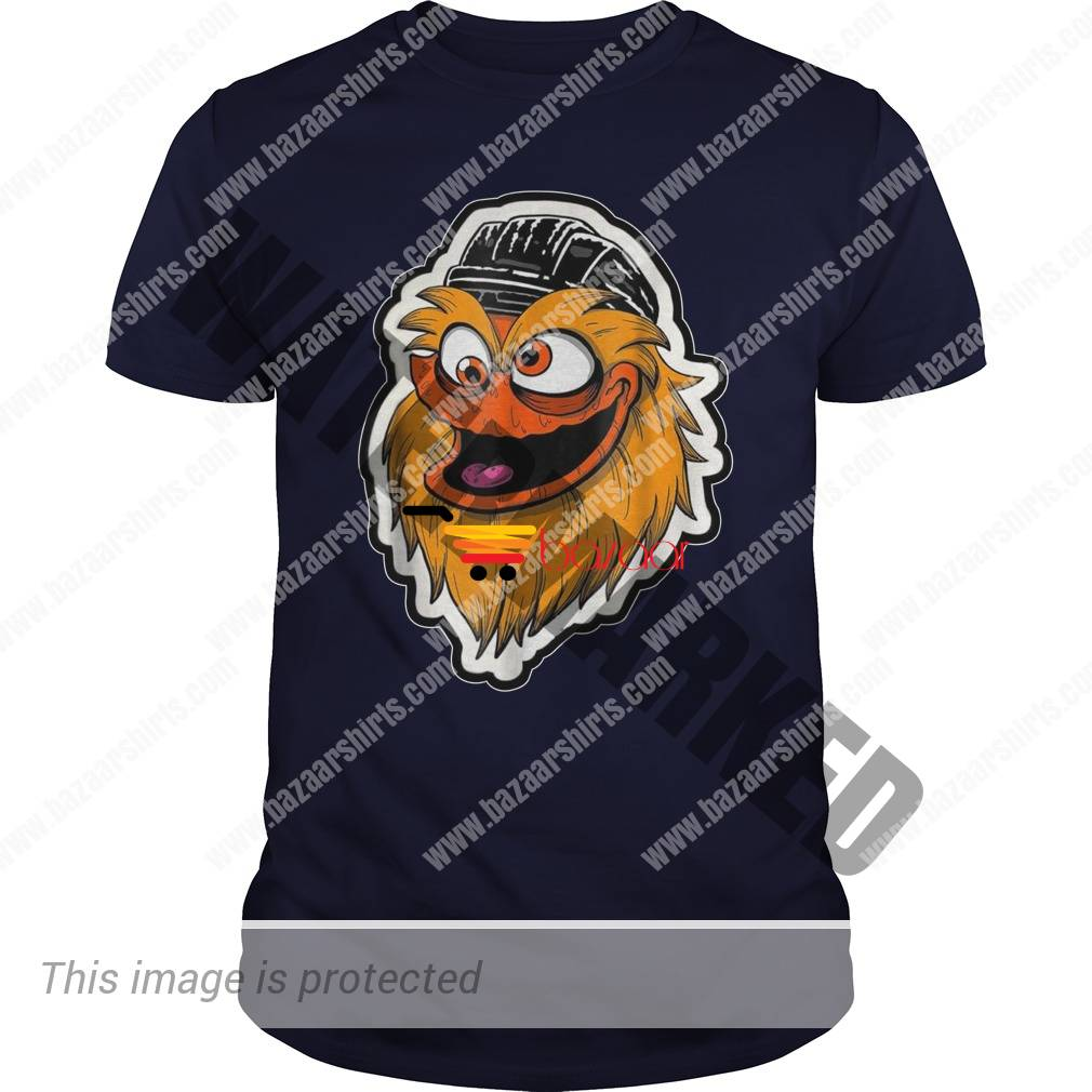 Gritty Mascot face guy shirt