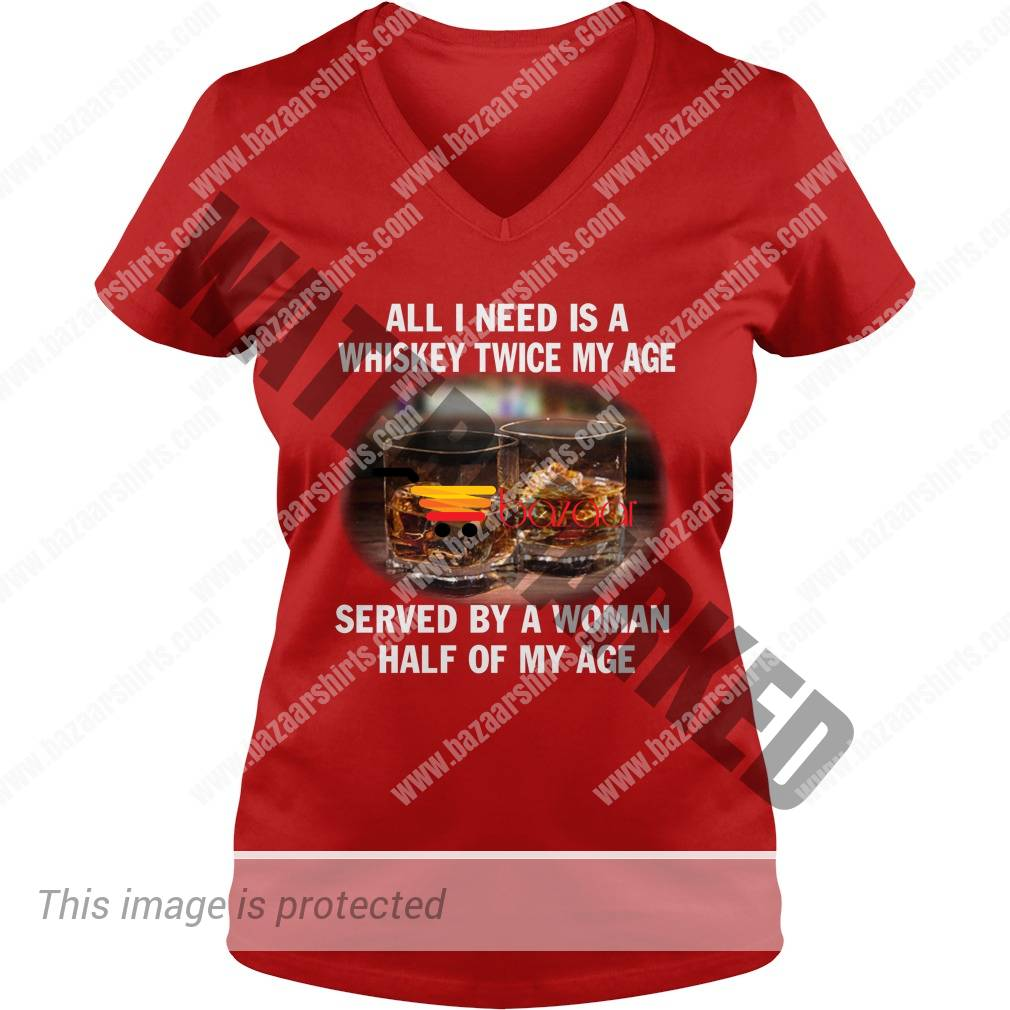 All I need is a whiskey twice my age lady v-neck