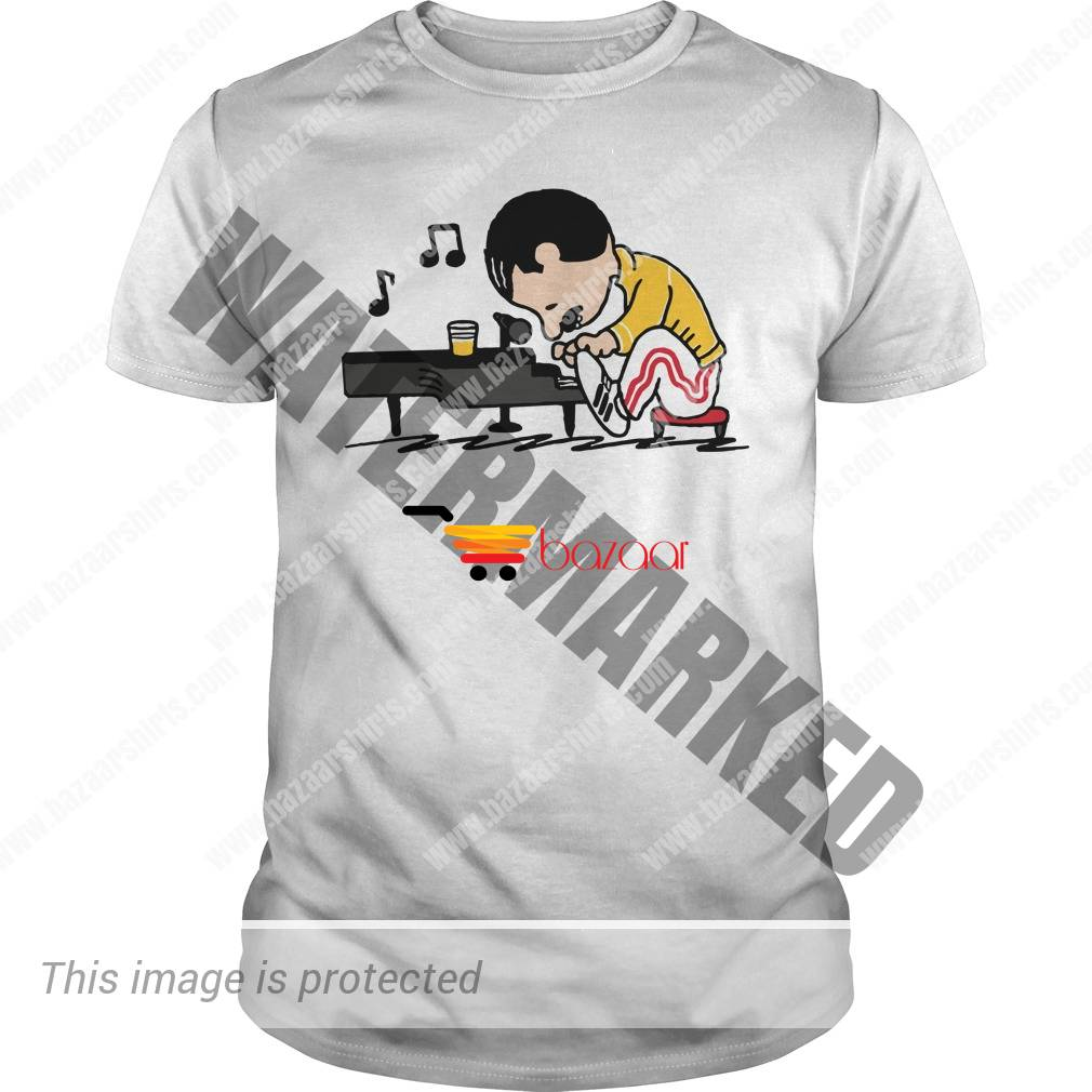 Queen Freddie Mercury play the piano unisex shirt