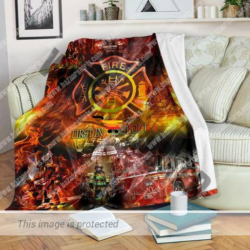 First in last out firefighter blanket