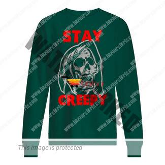 Halloween stay creepy skull shirt